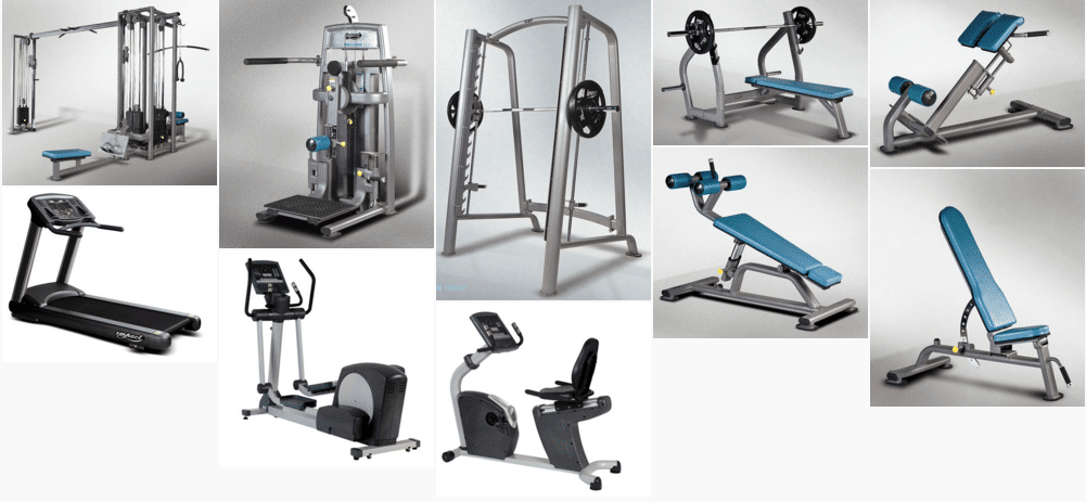Premier commercial strength gym equipment small package for 3000 sq ft gym layout